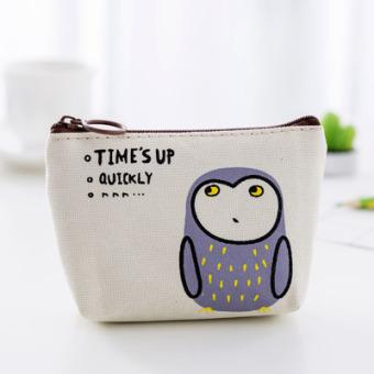 Selamat pagi kanvas pesta wanita Mini dompet nol dompet (Burung hantu (G-4J4C