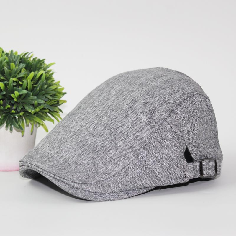 Semi dan baret topi musim panas topi musim panas topi (Abu-abu gelap)