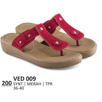 sendal flats wanita fashionable simple high class sandals comfy fitand high quality product lze200