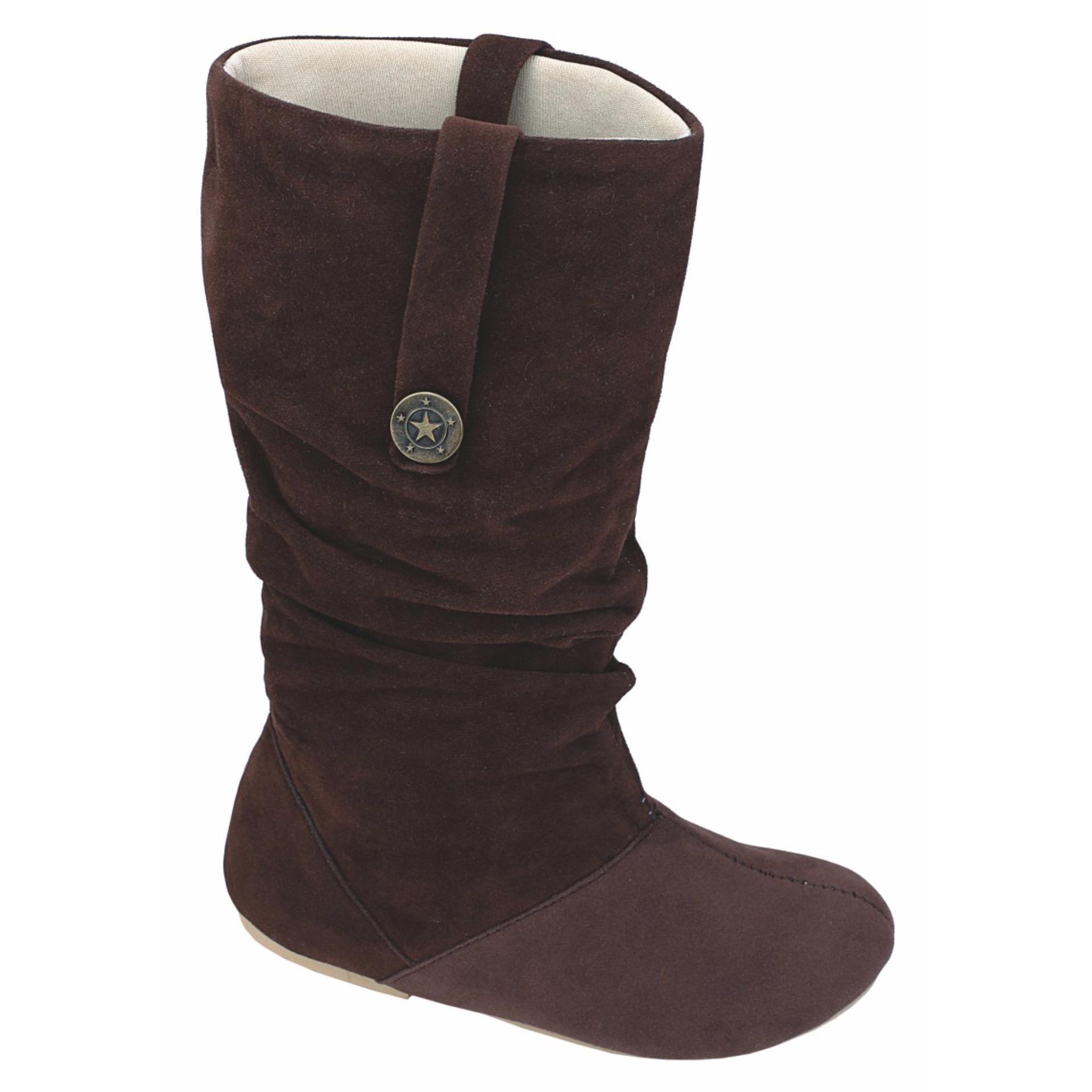 ... Sepatu Boot Anak Perempuan Catenzo Junior CTA 011 Coklat Oktopus ...