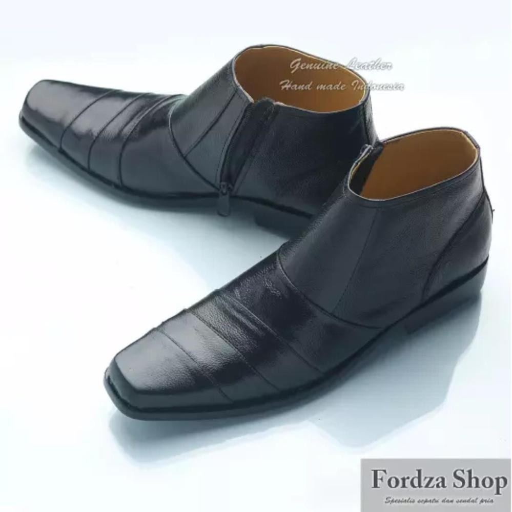 Sepatu Pantofel Pria Boot Formal Kulit Pdhpolisi Cepc Cocoes Resleting Boots01ht Murah