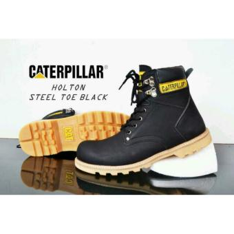 Sepatu Boots Caterpillar Safety Holtons Black