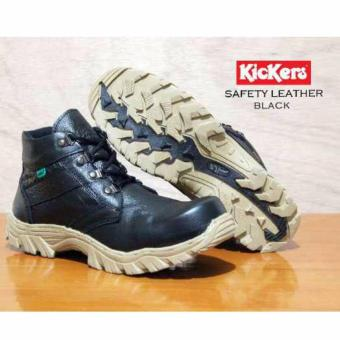 Harga Sepatu Boots Kickers Safety Boots Pria - Hitam