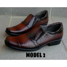 Sepatu Crocodille - Sepatu Formal Pantofel Kantor Pria 100% Asli Kulit Sapi Warna Coklat