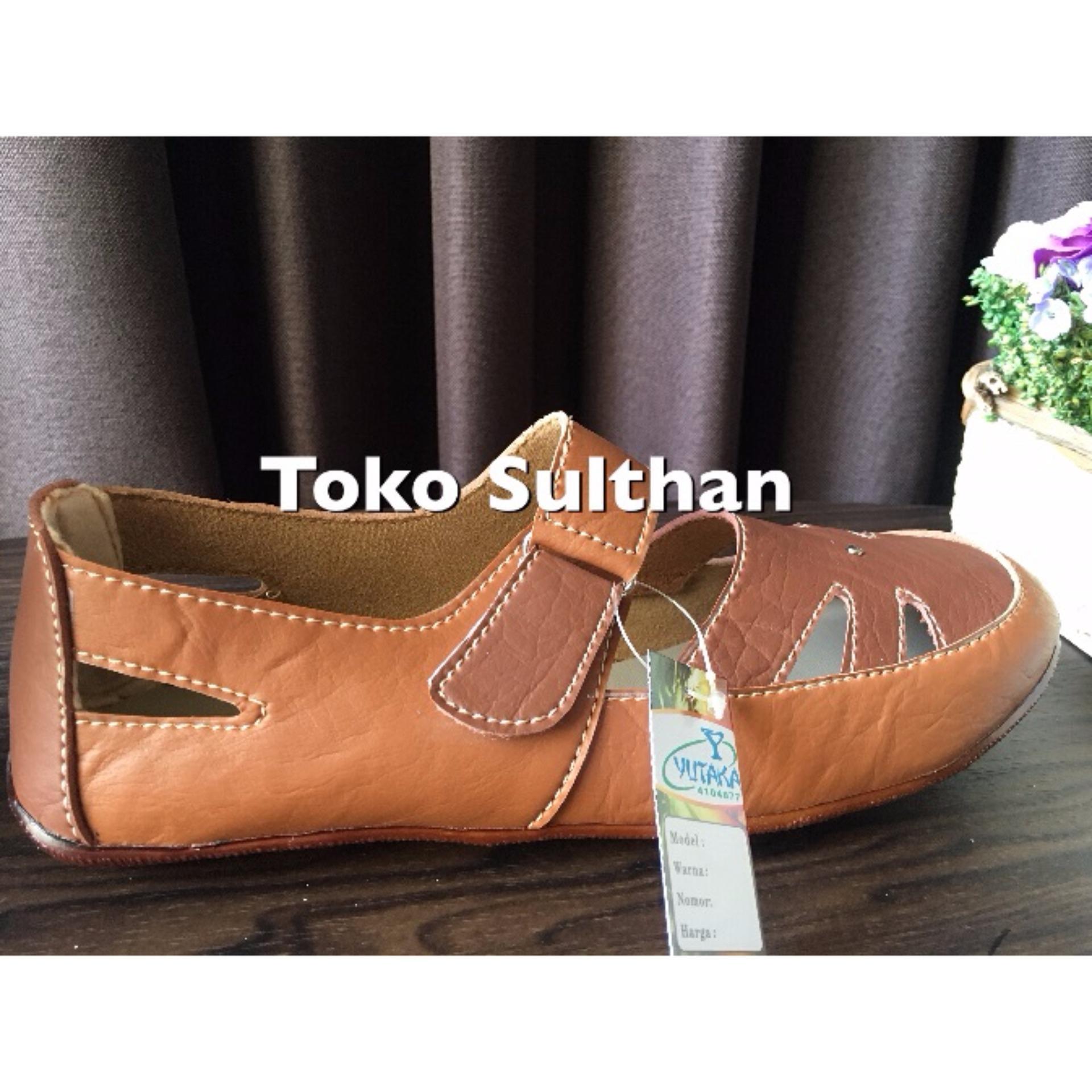 ... Sepatu Flat Shoes Yutaka - Coklat Tua Muda ...