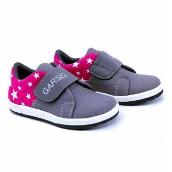Sepatu Kasual / Sneakers Anak Laki-laki Abu Kombinasi