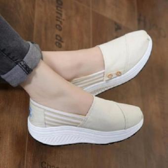 Sepatu Kets/Wedges Slip On Wanita/Cewek
