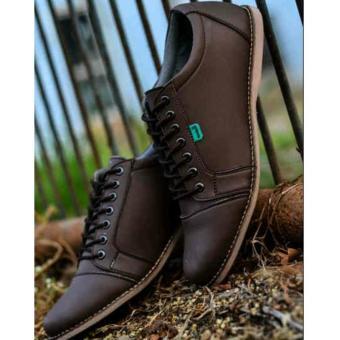 Sepatu Kickers Casual SAKA Pria - Cokelat