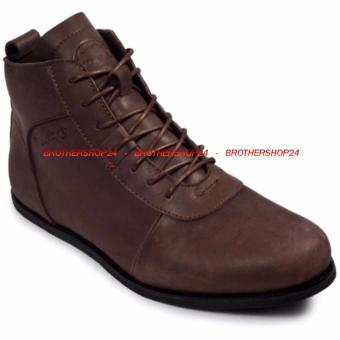 Sepatu Kulit Boots Pria Aerudite Bradleys - coklat - Sekelas Brodo