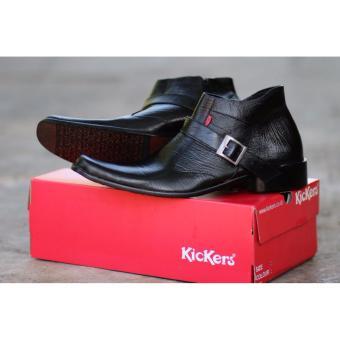 Sepatu Pantofel Boots Pria Ritsleting Warna Hitam Bahan Kulit AsliC203 - Sepatu  Formal Pria - Sepatu de0625f160
