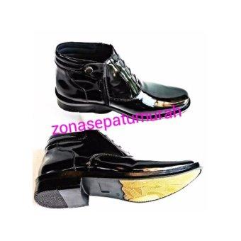 Sepatu PDH Mengkilap Model R-03 Merk D24, Standar TNI-Polri