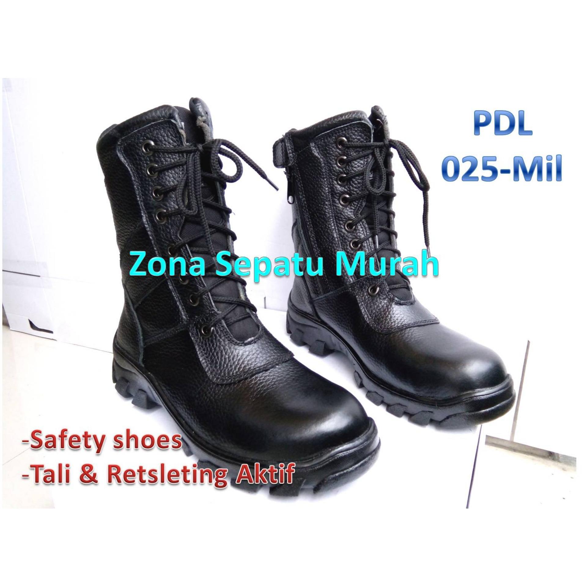 Sepatu Pdl Seri Kobra Mil Standar Tni Polri Security Dll Bestquality Ter Safety Model 025 Motif Kulit Jeruk Safetytni