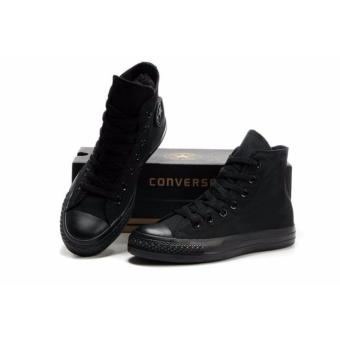 converse all star black. sepatu pria converse all star full black high + box
