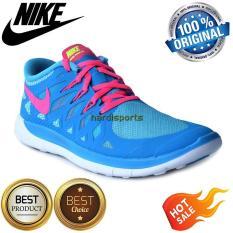 Sepatu Running Nike Free 5.0 (GS) 644446-401 - Blue Lagoon