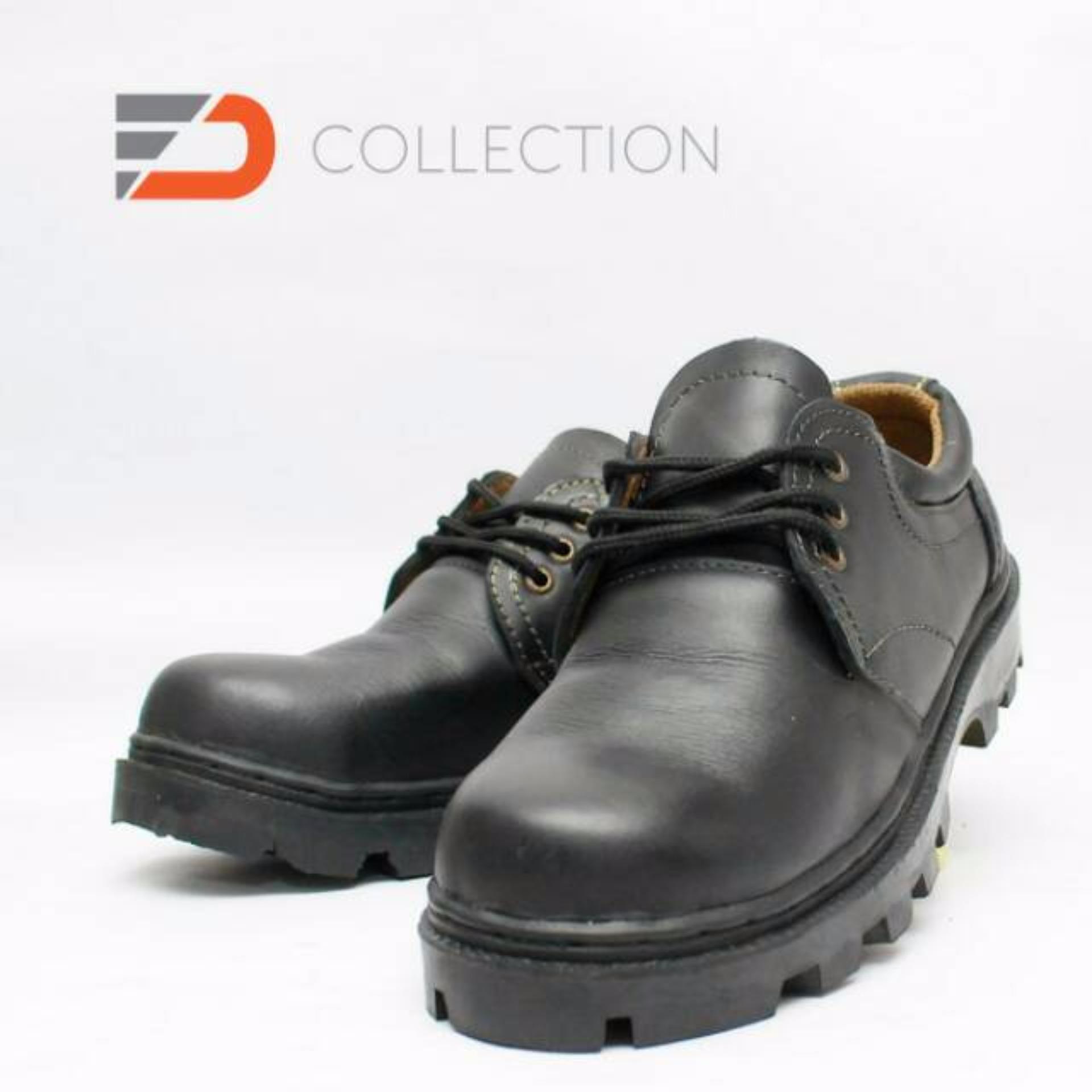 Sepatu Safety Boots Kulit Sapi Asli Fd 5 Daftar Harga Terkini Dan Selop Bahan Kukit 1 Pendek Hitam