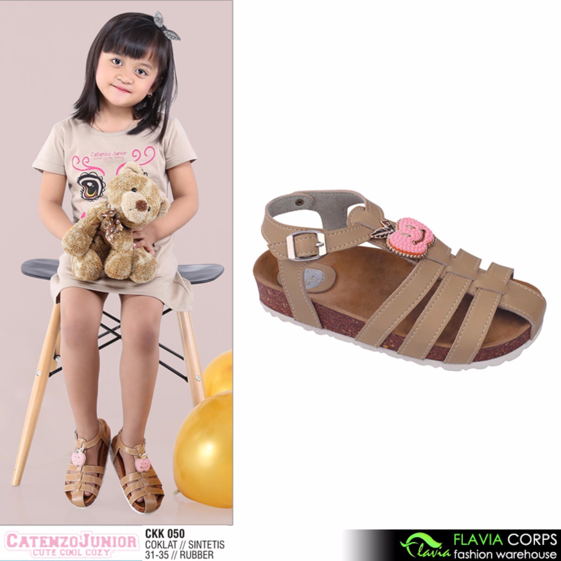 Sepatu Sandal Anak Perempuan CKK 050 Brown