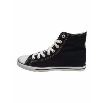 Sepatu Sekolah, Warrior Athena High Cut - Hitam/Putih - 4