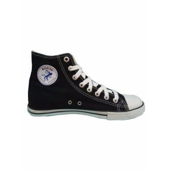 Sepatu Sekolah, Warrior Athena High Cut - Hitam/Putih - 3