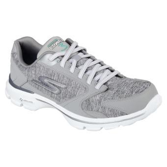 Sepatu SKECHERS WANITA|Sepatu Senam Cewe Murah|Sepatu FitnessSkechers|Sepatu GO WALK 14066GRY