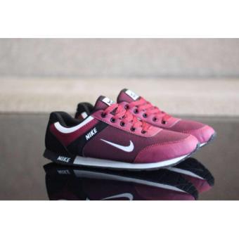 Sepatu Sneakers Premium CENWAFLE - Maroon, 270.000, Update. Baraya Fashion - Sepatu Formal