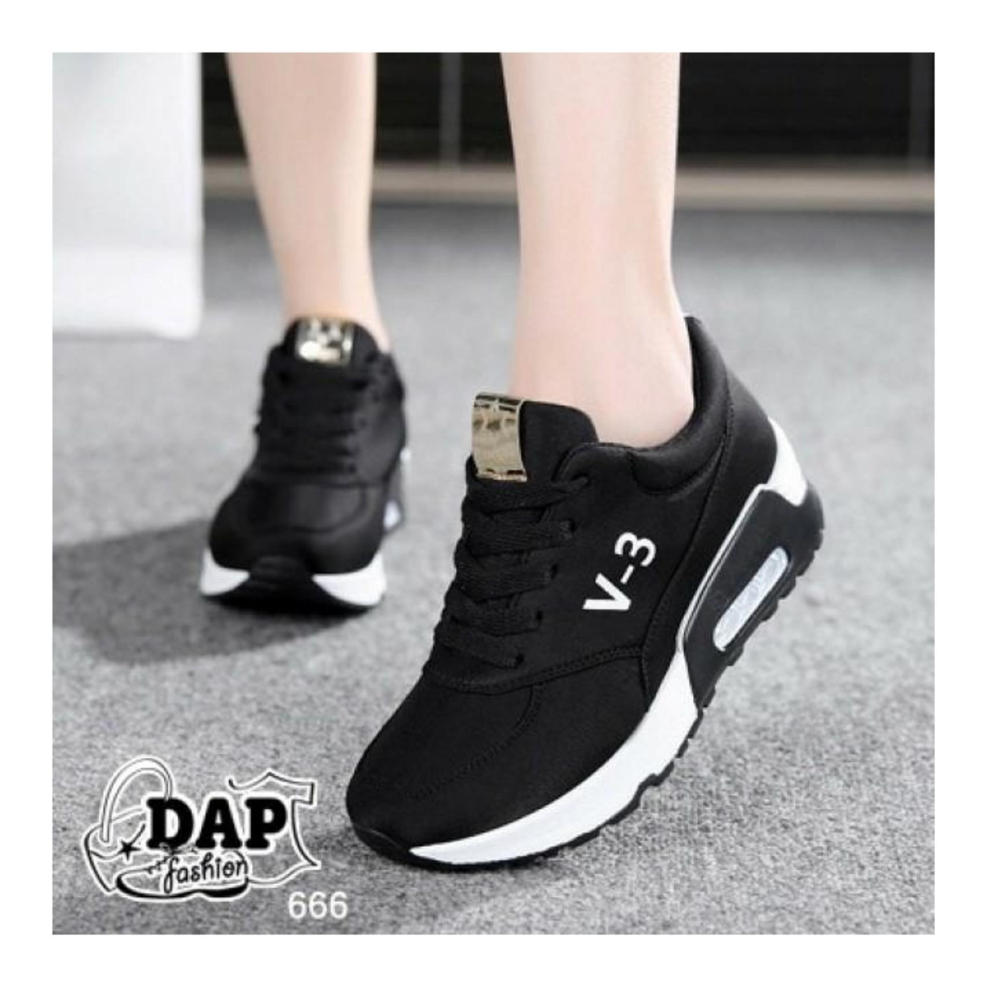 Wanita Fashion Sneakers Lace Sepatu Casual Kaki Manis Dea Anak 1704 161 Black Size 31 36 V 3 Sport Running