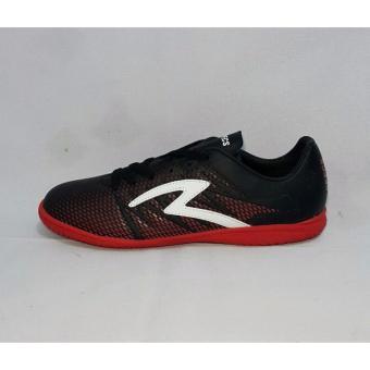 Detail Gambar Sepatu Specs Futsal Apache In - Black Red Poppy White Terbaru b57ee51d1a