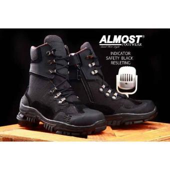 Sepatu Tracking Boots Delta Pria - ALMOST INDICATOR SAFTY - Black