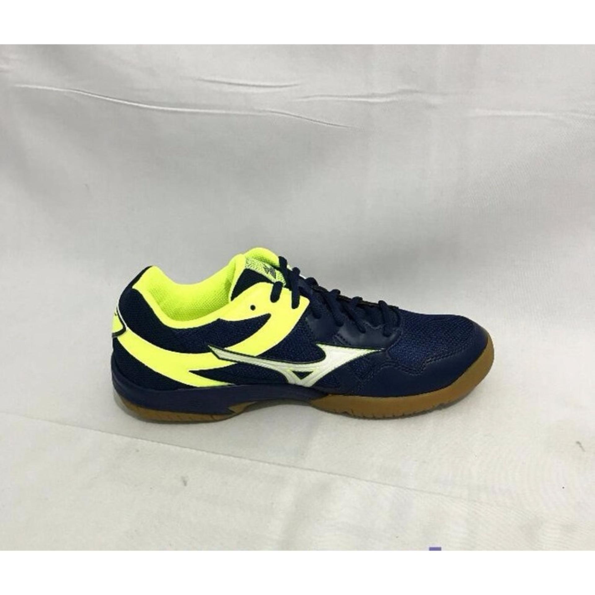 Diskon Penjualan Sepatu Voli Mizuno Cyclone Speed Blue Depths Futsal Sala Classic 2 In Yellow White Safety
