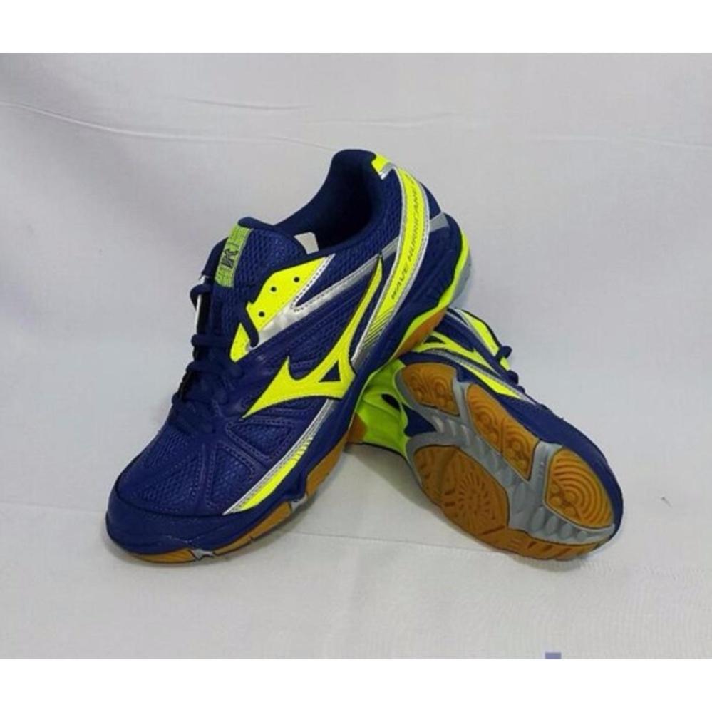 Diskon Penjualan Sepatu Voli Mizuno Wave Hurricane 2 Twilight Blue Futsal Sala Classic In Yellow Safety