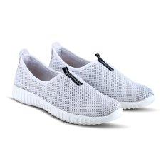 Sepatu VR 383 Sepatu Sneaker Slip On dan Casual Wanita - Putih