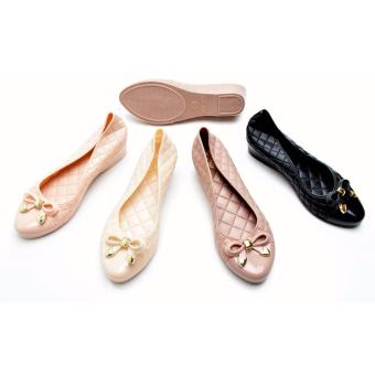 harga Sepatu Wanita Flat Pita Elegant   Sepatu Sendal Wedges - Jelly Shoes Lazada.co.id
