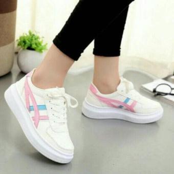 Gambar Sepatu Wanita Kets Sneakers Casual SDS199 Biru Pink