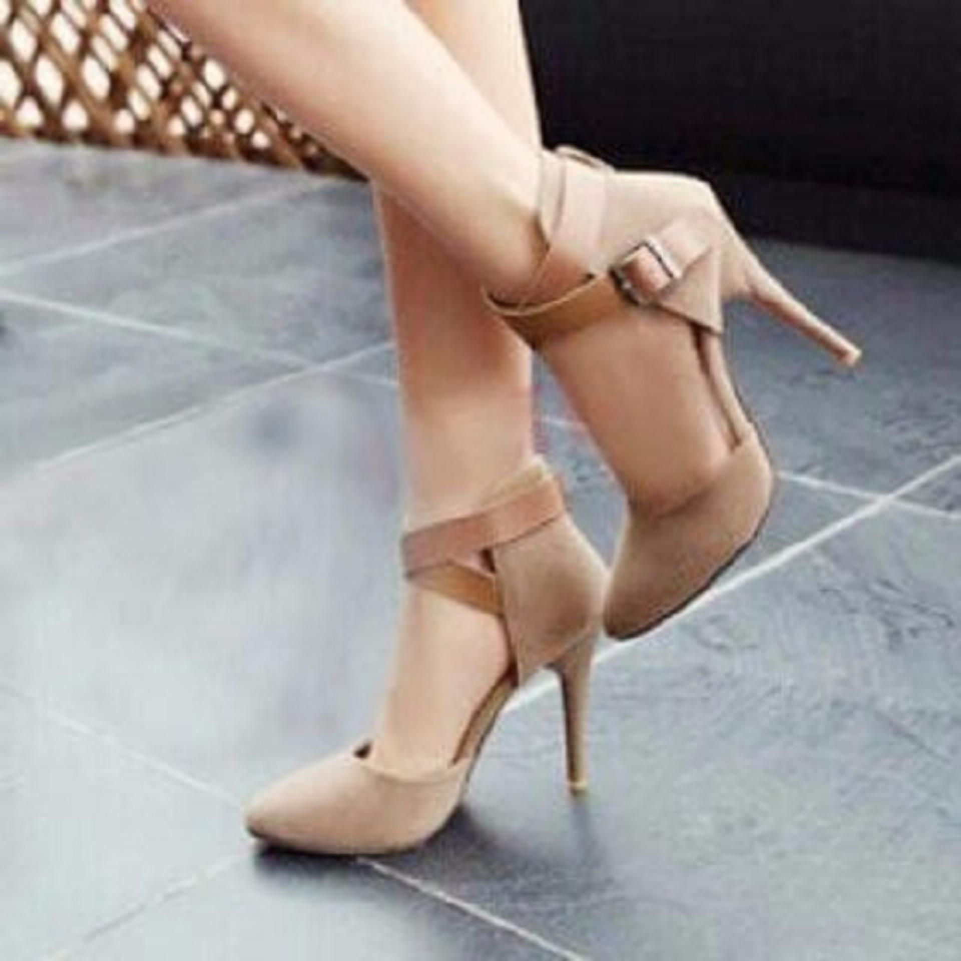 Sepatu Wanita Pantopel Murah OG22 Cream .