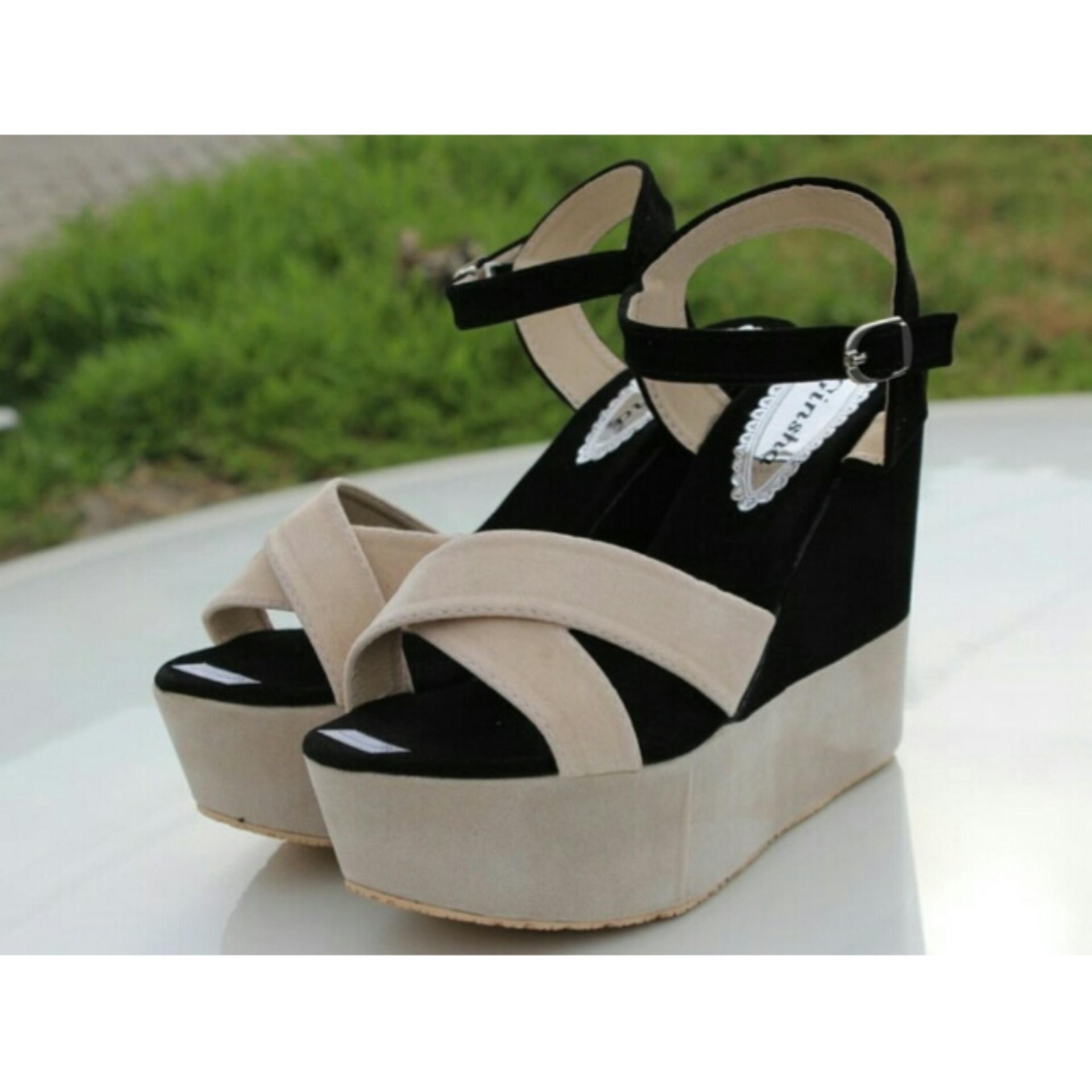 Fuboshoes Sepatu Wanita Wedges M71 Daftar Harga Terbaru Dan On02 On 02