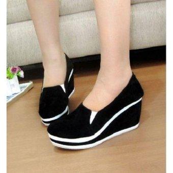 Sepatu Wanita wedges Palmino Black | Lazada Indonesia