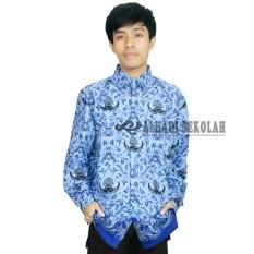 Seragam PNS, Baju Korpri Pria UKURAN S,M,L,XL. Baju Batik korpri (BKP001-01)