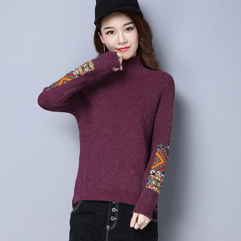 ... Plus Akrilik Wanita Lengan Baju Source · Harga Penawaran LOOESN Korea Fashion Style merajut pullover tipis Source Flash Sale Setengah kerah tinggi