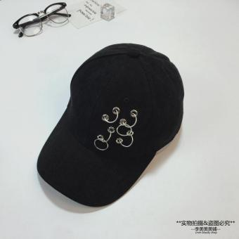 Pencari Harga SHININGSTAR ayat yang sama hoop hoop topi baseball (Kapas delapan lubang enam cincin