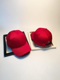 Flash Sale SHININGSTAR Korea Fashion Style ayat yang sama topi baseball Benn topi (Merah) Daftar Harga