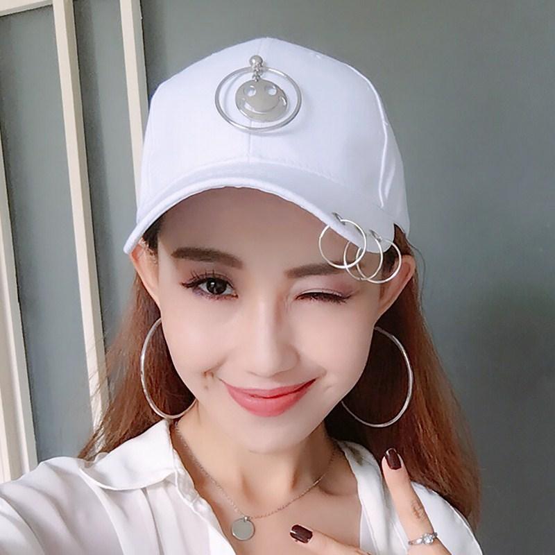 SHININGSTAR Korea Fashion Style bordir pria dan wanita topi bisbol topi topi (Lingkaran dalam lembaran