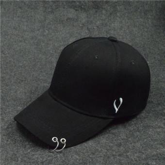 SHININGSTAR Korea Fashion Style warna solid ayat yang sama topi pin topi topi (Bisiklik U
