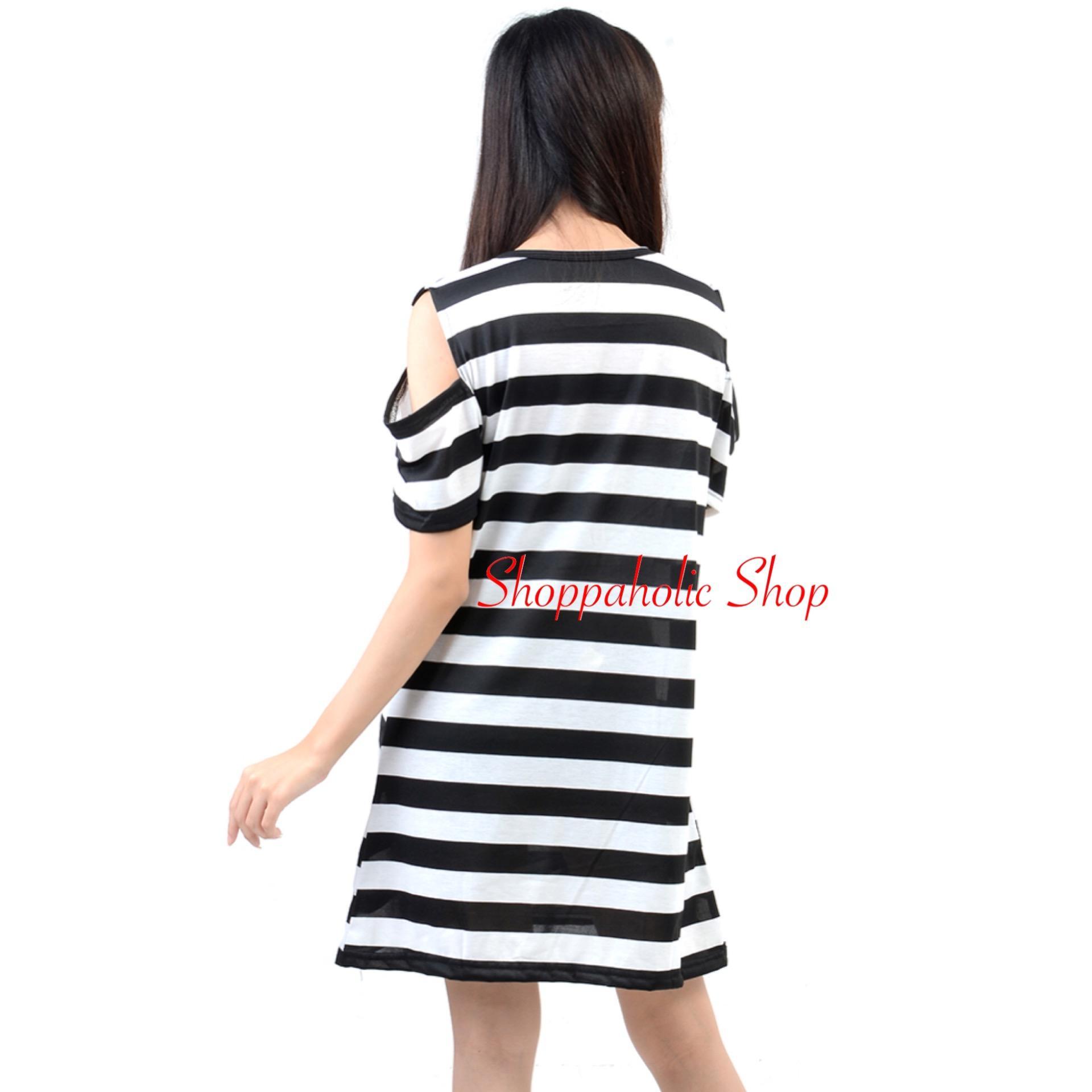 Shoppaholic Shop Dress Wanita Elisa Salur