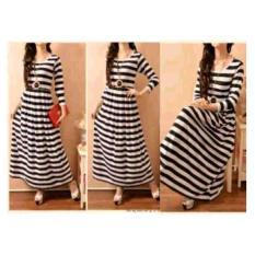 Shoppaholic Shop Maxi Dress Muslim Salur / Dress Muslimah / Hijab Muslim / Gamis Syari / Baju Muslim / Fashion Muslim / Dress Muslim / Fashion Maxi / Setelan Muslim / Atasan Muslimah