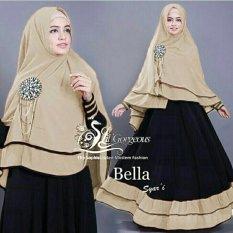 Shopping Yukz Syari 2in1 Bella (Hitam - Mocca)