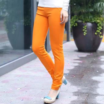 Siswa Slim Pensil Celana Panjang Celana (Oranye celana)