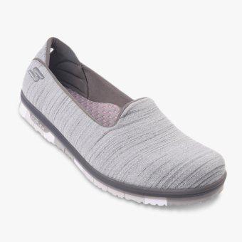 Skechers GO MINI FLEX Walk Women's Shoes - Abu-abu