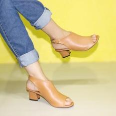Sling Back Strap Sepatu Heels Wanita Marlee BB-27 Tan