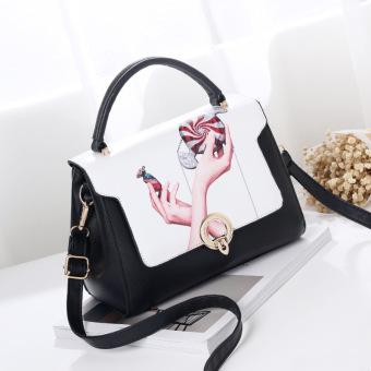 Small Fragrant Wind perempuan dicetak tas wanita tas (Kedua tangan)
