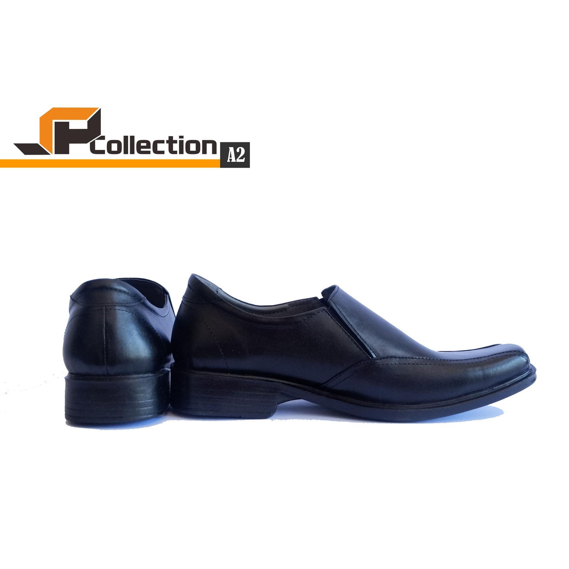 ... SPATOO Sepatu Pantofel A2 Bahan Kulit Sapi Asli Warna Hitam Untuk Kerja Ke Kantor dan Acara ...
