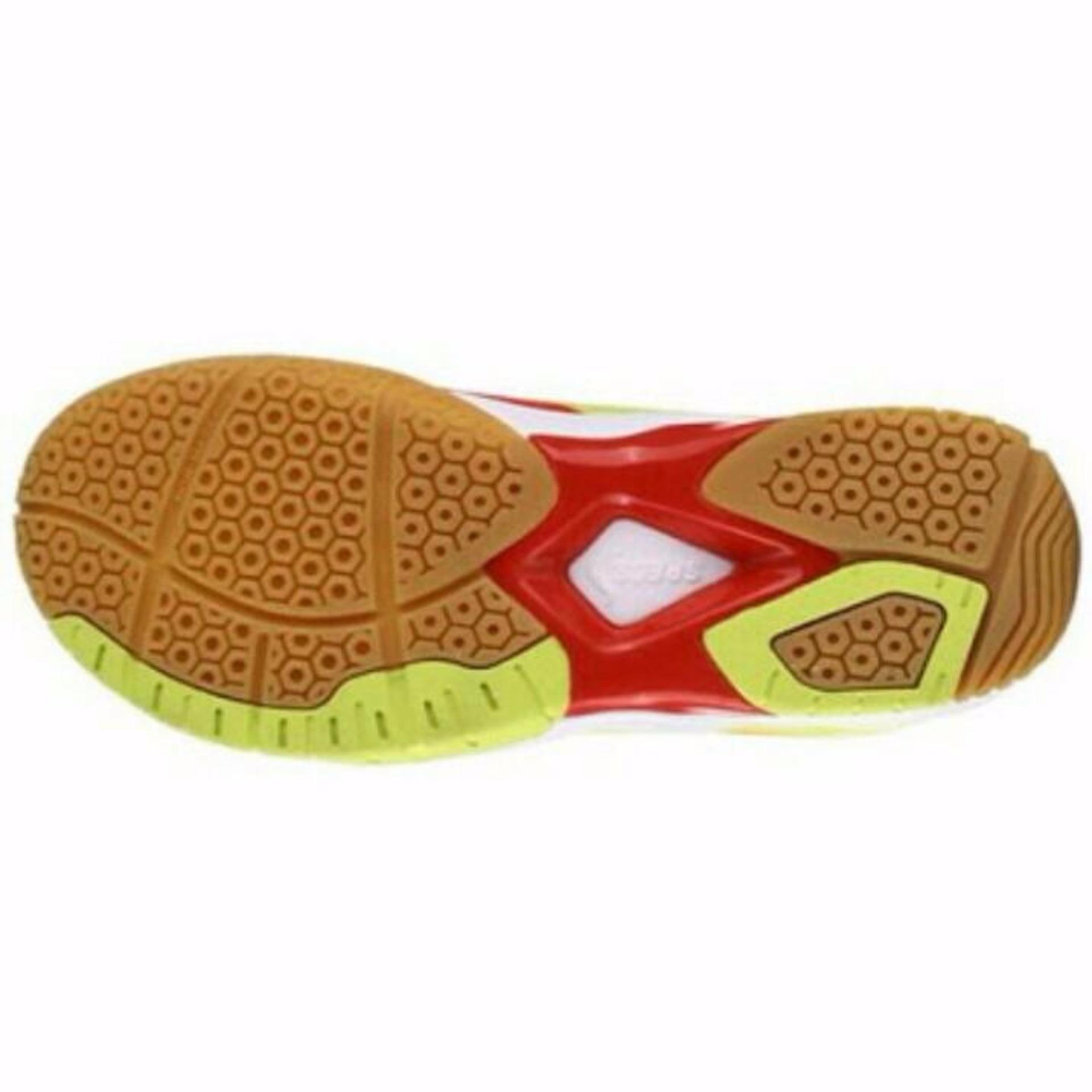 Specs BALDR Sepatu Badminton - emperor red/solar slime/white .